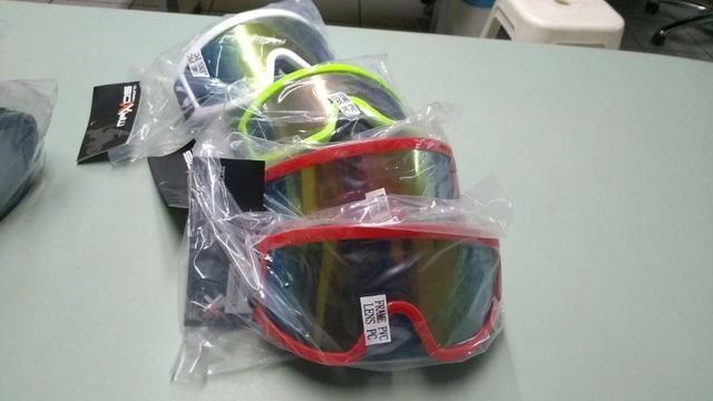 Oculos Proteção Cross Espelhado e Cristal - Diversas Cores = Atualizado !!! - Foto 4