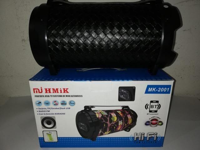 Caixa De Som Portatil Bluetooth Mp3 Fm Pc Micro - Mk2001 - Foto 4