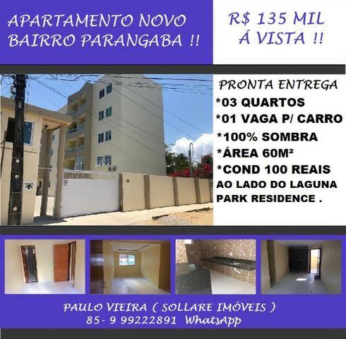 Apartamento Novo Com 03 Quartos e 100% Sombra Na Parangaba: Paulo 9  * Zap