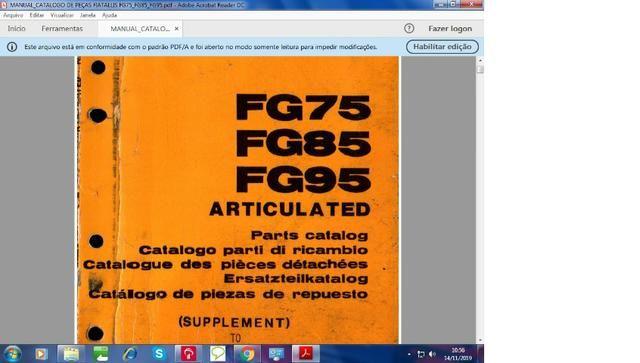 Catálogo peças, manual, Ad7b, Uniport, FG85, FR12, FB80, 70ci, FH200, 4CT - Foto 4
