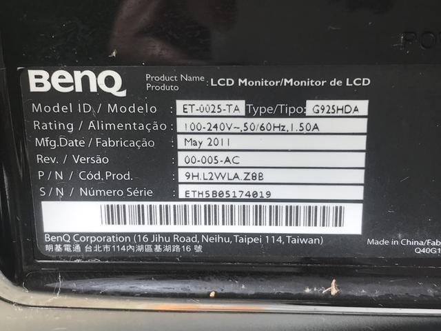 Monitor BENQ ET-0025-TA 18,5p leia a descrição - Foto 2