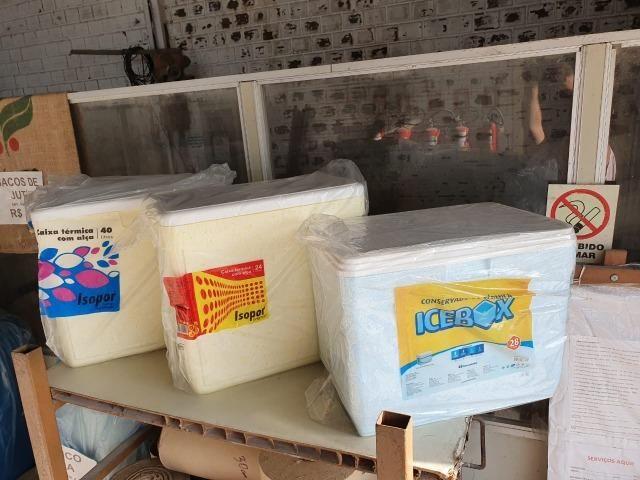 Caixa Térmica / Isopores 24L, 28L, 40L com alça