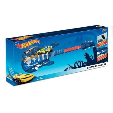 Guitarra Infantil Hot Wheels Azul Fun 8422-4