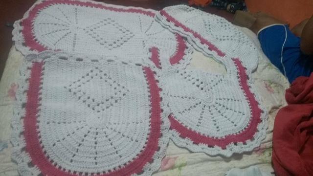 Jogo de tapete de crochê - Foto 2