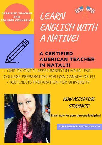 Professora de inglês americana e preparação para a faculdade