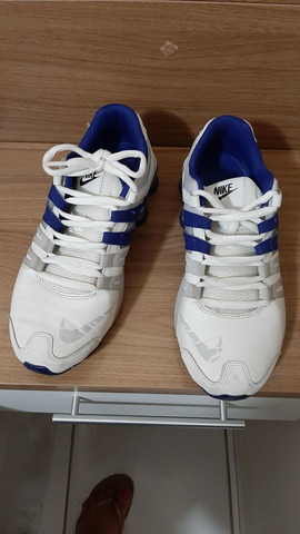 Nike Shock azul e branco  - Foto 5