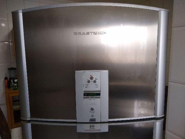Refrigerador Brastemp Frost Free Duplex Ative Brm47b Inox - Foto 2