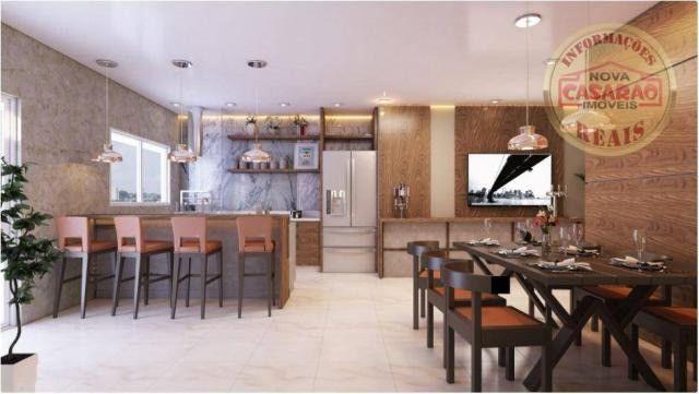 Apartamento com 2 dormitórios à venda, 77 m² por R$ 419.958 - Maracanã - Praia Grande - Foto 13