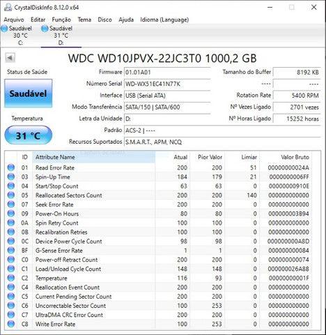 HD Western Digital (WD) 1 Tb (1000gb) - Foto 3
