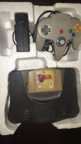 Nintendo 64 completo +  Zelda Ocarina of Time + Internation superstar soccer 64 - Foto 2