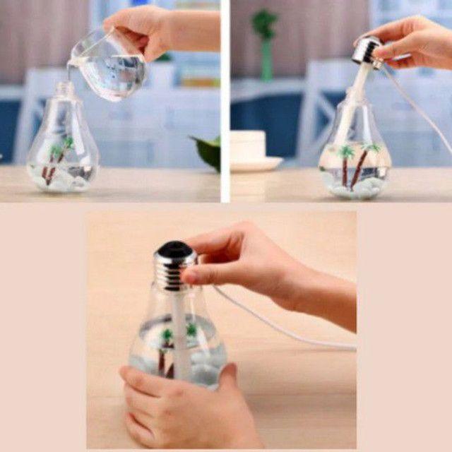 Umidificador de ar  lâmpada led usb luzes casa - Foto 3