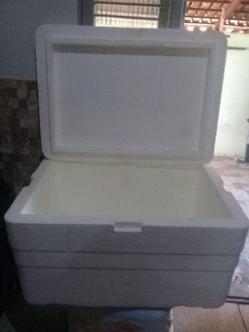 Caixa de isopor Grande com dreno - Foto 2