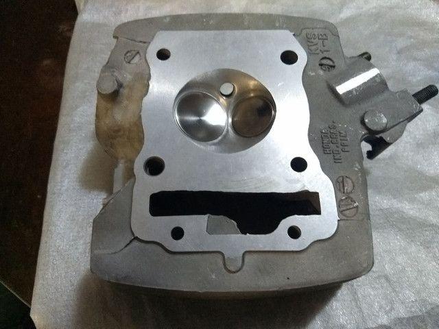 Cabeçote cg 150/bros 33x26 banca de fluxo - Foto 2