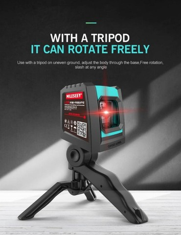 Nível A Laser Vermelho Com Bateria Recarregável + Tripé Bolsa - Foto 5