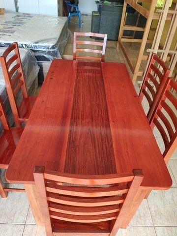 Mesa macacauba 6 cadeiras - Foto 3