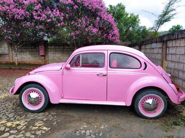 Fusca Rosa Impecável - Foto 7