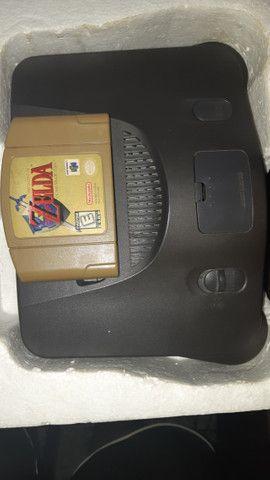 Nintendo 64 completo +  Zelda Ocarina of Time + Internation superstar soccer 64 - Foto 5