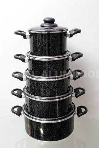 Jogo de panelas de aluminio  - Foto 2