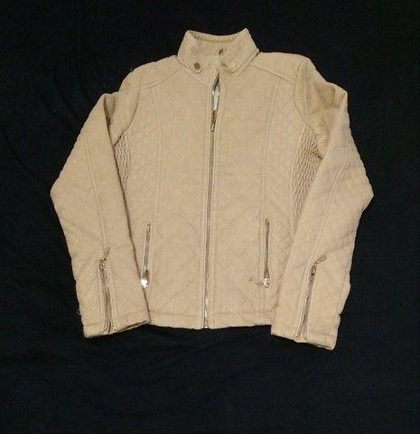 Jaqueta feminina via fino camurça tam. M