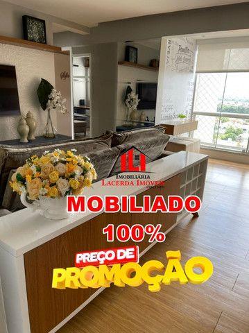 Mundi Resort, 96m², Mobiliado 100%, 14º andar, 3 quartos/suíte, 3 vagas