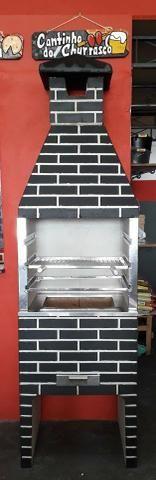 Churrasqueira pre moldada modelo tijolo 65 cm