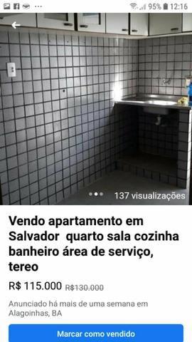 Vendo apartamento em salvador quarto sala conzinha banheiro area de servico