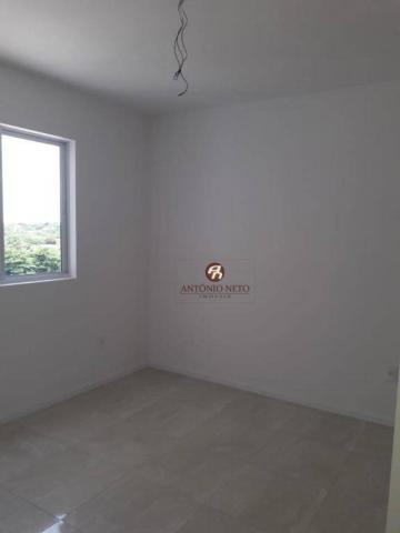 Apartamento NOVO com 3 dormitórios para alugar, 65 m² por R$ 1.150/mês - Messejana - Forta - Foto 14