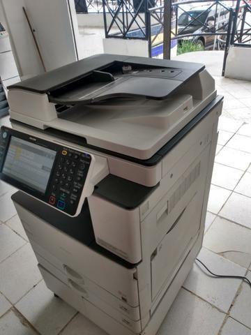 Copiadora e Impressora A3 Ricoh Aficio MP 3053 Preto e Branco - Foto 2