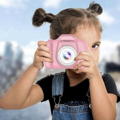 Câmera Digital Para Crianças LP005 Infantil Display 2 Pol HD Recarregável Prova de Choque - Foto 4