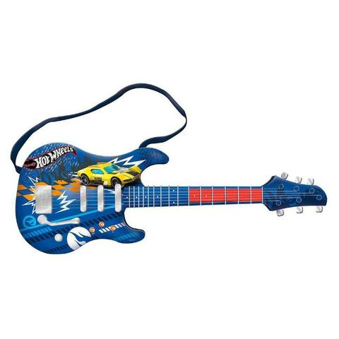 Guitarra Infantil Hot Wheels Azul Fun 8422-4 - Foto 4