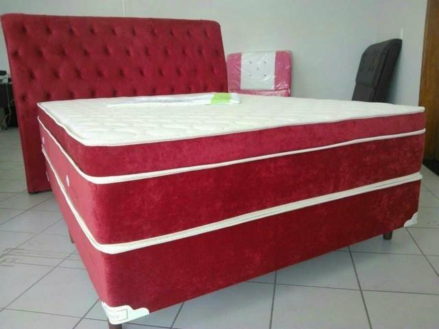 Colchão lançamento com cama e cabeceira apartir de 10 parcelas R$ 299.00