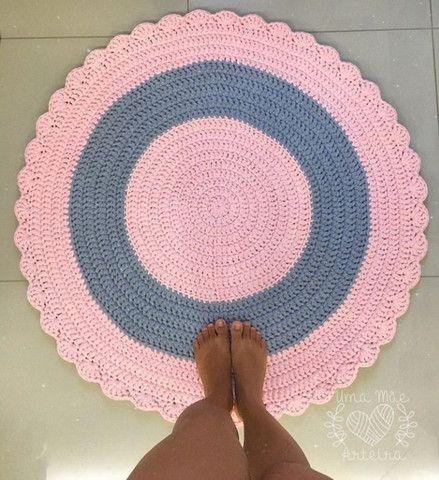 Tapete oval em croche - Foto 2