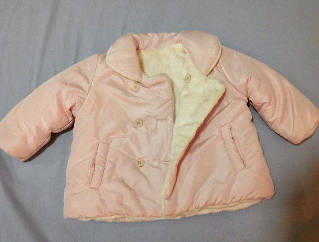 Jaqueta nylon, forrada tam 3-6 meses (M) - Foto 3