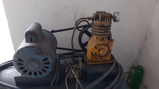 Compressor de 100L aceita trocas. - Foto 5