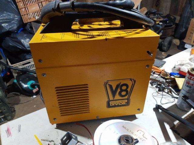 Máquina solda Mig sem gás V8
