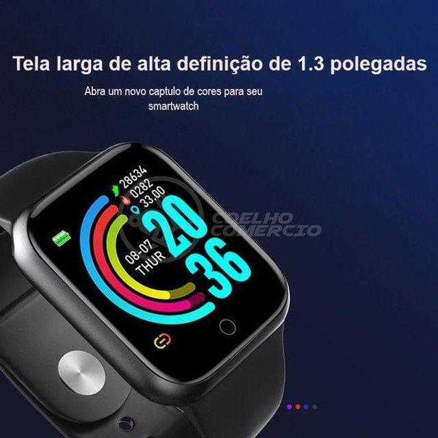Relógio inteligente y68 pro d20 atualizado bota foto  - Foto 3