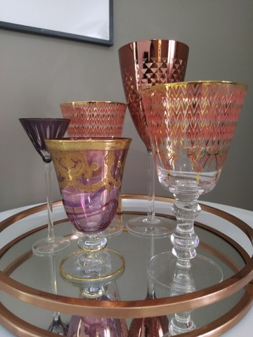 Conjunto de Taças de Cristal e Bandeja - Foto 3
