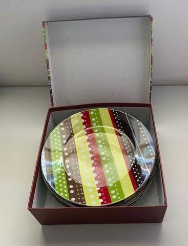 Conjunto De 6 Pratos De Sobremesa Porcelana Presentti Style - Foto 2