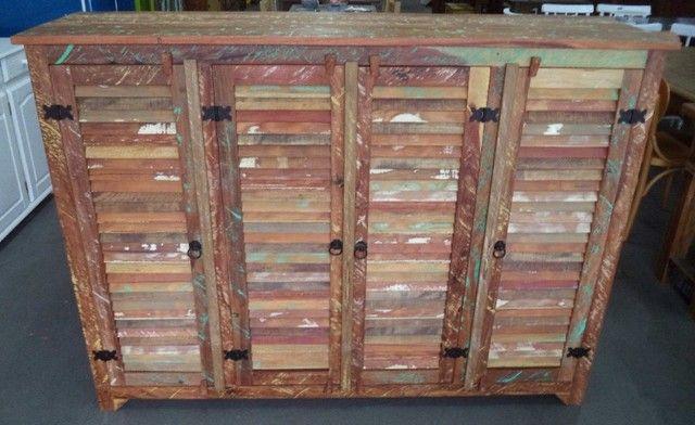comoda em madeira de demolição portas ventiladas. - Foto 4