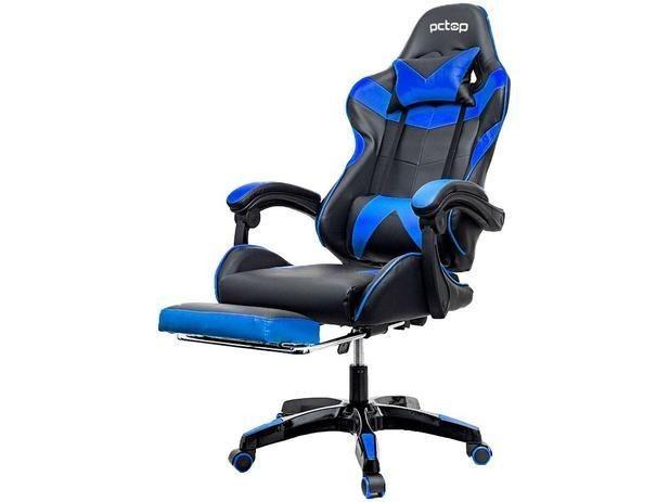 Cadeira Gamer PCTop Reclinável Preta e Azul - PGB - Foto 2