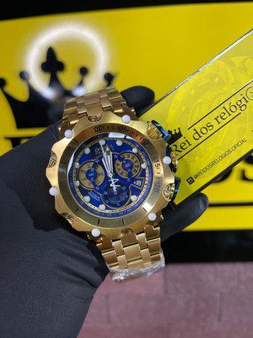 Relógio hybrid azul c/entrega grátis