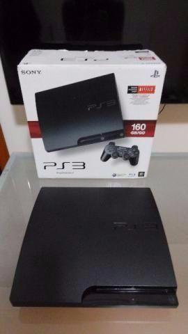 Playstation 3 Slim + 2 Jogos + Garantia de 01 ano