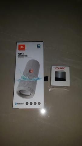 Caixa De Som JBL FLIP 4 + Brinde Mini Speaker