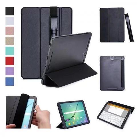 Capa Book Cover P/ Samsung Galaxy Tab S3 fechamento magnético + Case de Couro Para S Pen