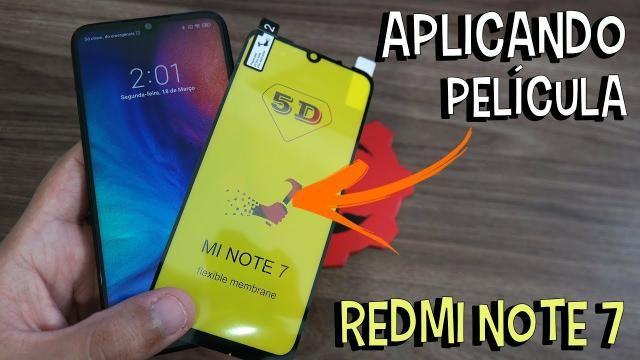 Películas Xiaomi 5D Vidro e gel Flexível Note 8 mi a3