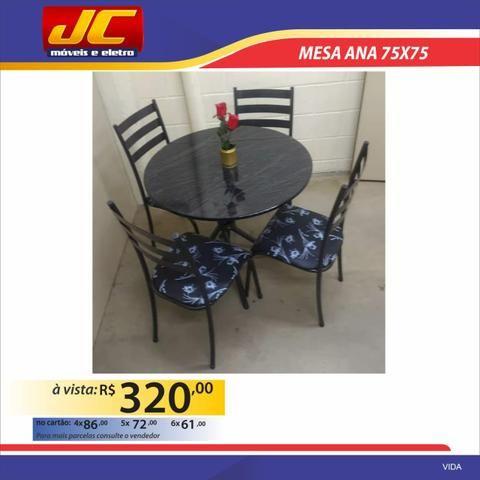 Mesas 4 cadeiras redondas na promoção - Foto 2