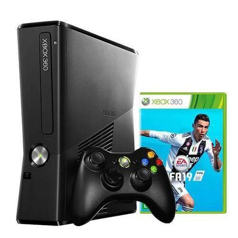 Xbox 360 4GB Semi-Novo + Fifa 19