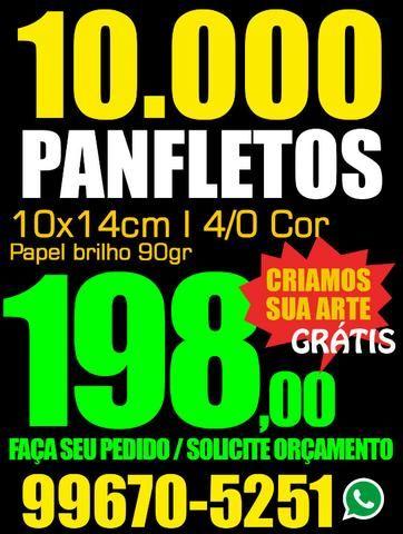Gráfica - 10.000 Prospectos - Tamanho 10x14 cm.R$ 198,00