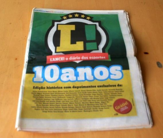 Colecionável - Jornal Lance Edição Histórica 10 Anos - 2007 - Raro