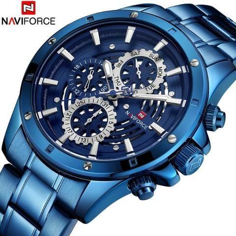 Relógio Naviforce Anti-risco a prova d'agua na caixa